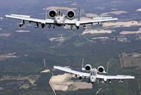 Two A-10C Thunderbolt aircraft near Moody Air Force Base, Georgia Fine Art Print