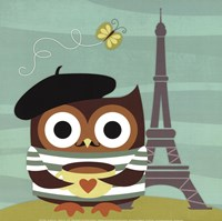 Owl in Paris Fine Art Print
