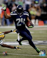 Marshawn Lynch football 2014 Fine Art Print