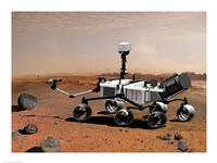 Concept of NASA's Mobile Robot for Investigating Mars Fine Art Print