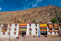 Hemis Monastery facade with craggy cliff, Ladakh, India Fine Art Print