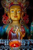 Maitreya Buddha at Thiksey Monastery, Leh, Ledakh, India Fine Art Print