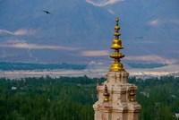 India, Ladakh, Leh, Gonpa Soma Jokhang spire, Fine Art Print
