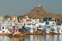 Pushkar shore, Pushkar, India Fine Art Print