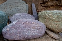 Prayer stones, Ladakh, India Fine Art Print