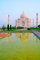 Taj Mahal Temple at Sunrise, Agra, India Fine Art Print