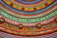 Ceiling of Shree Laxmi Narihan Ji Temple, Jaipur, Rajasthan, India. Fine Art Print