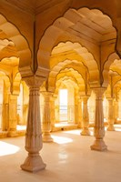 Colonnaded gallery, Amber Fort, Jaipur, Rajasthan, India. Fine Art Print
