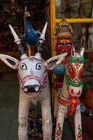 Colorful local handicrafts, Pushkar, Rajasthan, India. Fine Art Print