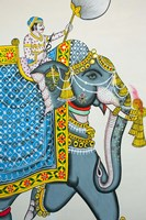 Elephant mural, Mahendra Prakash hotel, Udaipur, Rajasthan, India. Fine Art Print