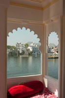 View from a restaurant, Udaipur, Rajasthan, India Fine Art Print