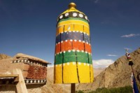 Colorful structure, Gompas And Chortens, Ladakh, India Fine Art Print