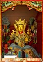 Statue in Thikese Monastery, Ladakh, India Fine Art Print