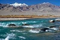 India, Ladakh, Indus River, Himalaya range Fine Art Print