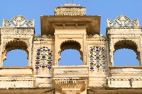 Architectual detail on City Palace, Udaipur, Rajasthan, India Fine Art Print
