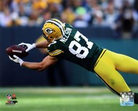Jordy Nelson 2014 catching the ball Fine Art Print