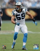 Luke Kuechly 2014 Action Fine Art Print