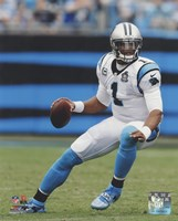 Cam Newton 2014 Action Framed Print