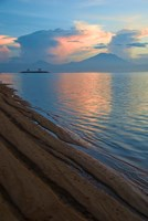 Indonesia, Bali Sanur Beach with Mount Gunung Agung Fine Art Print
