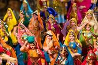 Figurines at the Saturday Market, Goa, India Fine Art Print