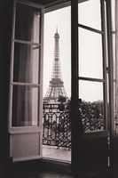 Eiffel Tower through French Doors Fine Art Print