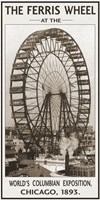 The Ferris Wheel, 1893 Framed Print