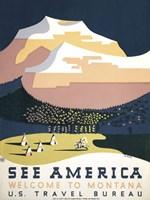 See America - Welcome to Montana I Fine Art Print