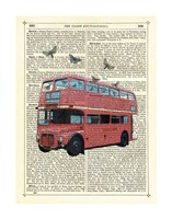 Butterfly London Bus Framed Print