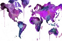 Watercolor Map No. 8 Fine Art Print