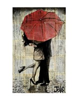 The Red Umbrella Framed Print