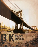 East River & Manhattan Bridge Fine Art Print