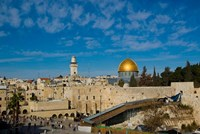 Israel, Jerusalem, Western Wall and Dome of the Rock Framed Print