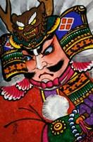 Samurai, Warrior Folk Art, Takamatsu, Shikoku, Japan Fine Art Print