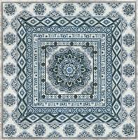Blue Silver Tile II Fine Art Print