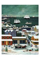 Winter in Nantucket Harbor Fine Art Print