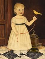 Girl with Bird Fine Art Print
