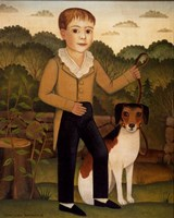 Boy with Dog Fine Art Print