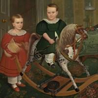 The Hobby Horse, ca. 1840 Fine Art Print