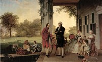 Washington and Lafayette at Mount Vernon, 1784, 1859 Fine Art Print