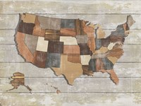 Wood Map Fine Art Print