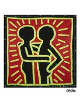 Untitled, 1982 (couple in black, red, and green) Fine Art Print