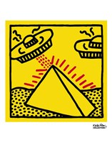 Untitled, 1984 (pyramid with UFOs) Framed Print