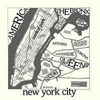 New York Map Fine Art Print
