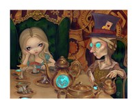 Alice and the Mad Hatter Fine Art Print