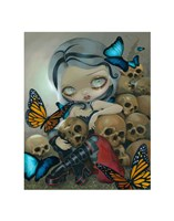 Butterflies and Bones Fine Art Print