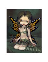 Fairy with Dried Flowers Fine Art Print