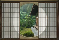 Tea House Window, Sesshuji Temple, Kyoto, Japan Fine Art Print