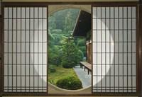 Tea House Window, Sesshuji Temple, Kyoto, Japan Fine Art Print