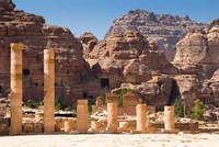 Great Temple, Petra, UNESCO Heritage Site, Jordan Fine Art Print