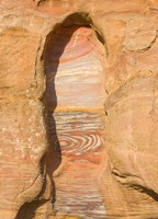 Rock texture of cave wall, Petra, Jordan Fine Art Print